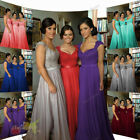 Bridesmaid Dress Evening Wedding Chiffon Formal Ball Gown Long Party Prom Dress
