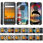 For ZTE Blade Force / ZTE Warp 8 Dual Layer Hybrid Shell Kickstand Fitted Case