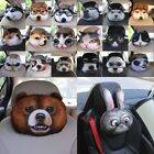 types of pillow filling - US 3D Dog Animal Face Car Headrest Pillow Polyester Head Neck Rest Nap 20 Types