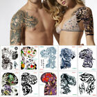 Big Large Shoulder Half Arm Tattoo Sticker Dragon Lotus Temporary Body Art Decal $1.99 USD on eBay