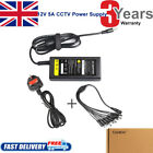 12V 5A Power Supply W/8 Split For CCTV Security Camera DVR Swann Lorex Defender