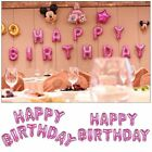 Happy Birthday Balloons 13 Letters Self Inflating Foil Banner Bunting Party AU