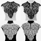 HOT black Embroidered Lace Collar Neckline Applique Embroidery Sewing on Patches
