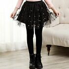 3-13Y 2018 spring girls leggings Skirts Black Lace kids Girl pantskirt culotte