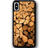 For iPhone X - Case Phone Cover Timber Stach Y00760