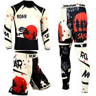 ROAR BJJ Jiu Jitsu Nogi Fight Wear Set Leggings IBJJF MMA Shorts BJJ Rash Guards