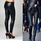 New Women Winter Leggings Warm Fleece Lined Leather Stretch Skinny Pants Trouser