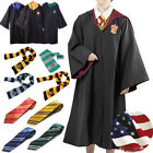 Harry Potter Hogwarts Robe Cloak Costume Cape Tie Scarf Adult Child Cosplay Wand