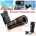 8X Optical Zoom Clip-on Telescope Telephoto Phone Camera Lens +Clip For Mobile