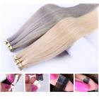 45-70cm Micro Tape Remy Human Hair Extension New Technique More Invisible &Comfy