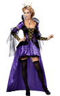 Ladies Wicked Queen Evil Snow White Halloween Fancy Dress Costume