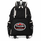 "TRIUMPH MOTORCYCLE Logo Backpack Men Boys Travel Rucksack School Bags 18"" $33.99 USD on eBay"