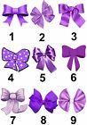 Purple Bow Ribbon Small or Large Sticky White Paper Stickers Labels NEW
