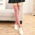Women Winter Cable Knit Long Boot Socks Over Knee Thigh High Stockings Leggings