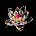 1pc Colorful Crystal Lotus Feng Shui Home Car Decor Ornament Collection Gift