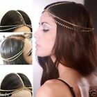 Rhinestone Tassel Forehead Hair Head Side Wave Chain Headband Headpiece Boho top