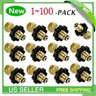 100X Fit Propane Tank Adapter POL to Qcc1 Wrench to Hand Tighten- Universal MAX
