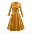 New Womens Wool Blend Overcoat Ball Gown Long Silm Trench Coats Jackets Outwears