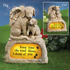 Pawprinted Solar Memorial Stone Pet Grave Marker Dog Cat Paw Prints Beloved