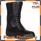 Spada Tri-Flex Motorcycle Motorbike Leather Touring Boots - Black