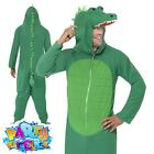 Adult Crocodile Jumpsuit Animal Mens Womens Fancy Dress Zoo Costume by Smiffys