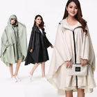 LC_ WOMEN HOODED RAINCOAT OUTDOOR LONG PONCHO WATERPROOF RAIN COAT RAINWEAR CL