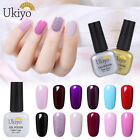 Ukiyo  Soak Off UV Gel Polish No Wipe Top Base Coat Nail Varnish Manicure 8ml