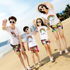 family outfits clothes summer family look T shirt Shorts kids boys girls Sets