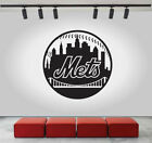 New York Mets Logo Wall Decal Sport Sticker Decor Black Vinyl MLB CG287 on Ebay