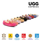 UGG Ladies Classic Lace Moccasins Loafer Flats, Water Resistant Australian Sheep