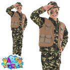 Child Desert Army Boys Costume Soldier Book Week Day Fancy Dress Outfit New