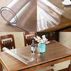 PVC Clear Tablecloth Waterproof Table Protector Kitchen Dining Room Decor