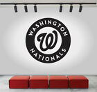 Washington Nationals Logo Wall Decal Sport Sticker Decor Black Vinyl MLB CG291 on Ebay