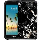 Marble Design Hybrid Case Dual Layer Protective Cover for LG K3 2017