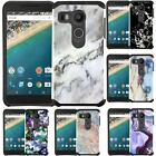 Marble Design Slim Hybrid Case Dual Layer Cover for LG Google Nexus 5X (2015)