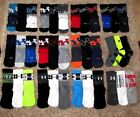 UNDER ARMOUR BOYS LARGE 13.5-4 PHENOM TRAINING CREW SOCKS SC