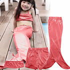 Kids Girls Mermaid Tail Swimming Bikini Set Swimwear Mono Fin Swimmable Costume