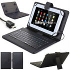 US PU Leather Stand Case Cover with Micro USB Keyboard For 7* - 8*inch Tablet