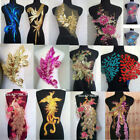 Внешний вид - Sequin Phoenix Tail Lace Applique Trims Dance Wedding Bridal Embroidery Sew
