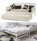 SOLID WOOD DAY BED WITH UNDER BED  PULL OUT TRUNDLE ,GUEST DAYBED 2 BEDS IN 1