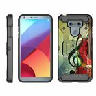For LG G6 / LG G6 Plus Full Body Armor Rugged Holster Belt Clip Case