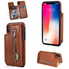 Leather Wallet Card Holder Protector Flip Stand Case Cover Samsung S7 Note 8 S8