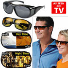 hd vision wraparound sunglasses - 2 Pair set HD Night Vision Wraparound Sunglasses As Seen on TV Fits OVER Glasses