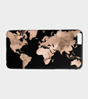 Phone Case Cell cover for Iphone S.Galaxy Design 97 world map black brown LDumas