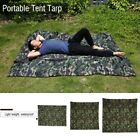 Portable Lightweight Camping Tent Tarp Shelter Pad Cover Waterproof Hiking Camo