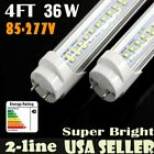 led light fluorescent tube replacement - LOT LED 4FT 36W T8 Light Tube Double Line Fluorescent Bulb Replacement 6000K MG