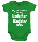 """Baby Pate Body """" Dad Cool Pate Gangster """" lustig Taufe Geschenk"""