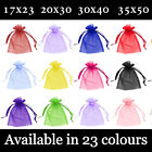 Large Organza Gift Pouch Wedding Favour Bag Jewellery Pouch 23 Colours & 4 Sizes