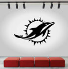 Miami Dolphins Logo Wall Decal Sport Sticker Decor Black Vinyl NFL CG383 on eBay