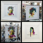 Murciano figurative pictures with liquid art, crystals & mirror/white frames